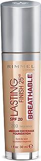 Rimmel London Lasting Finish Breathable Foundation, Spf 20,