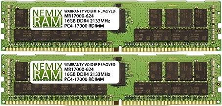 Fujitsu S26361-F3897-E643 S26361-F3897-L643 32GB (2x16GB) DDR4 2133 (PC4 17000) ECC Registered RDIMM Memory by NEMIX RAM