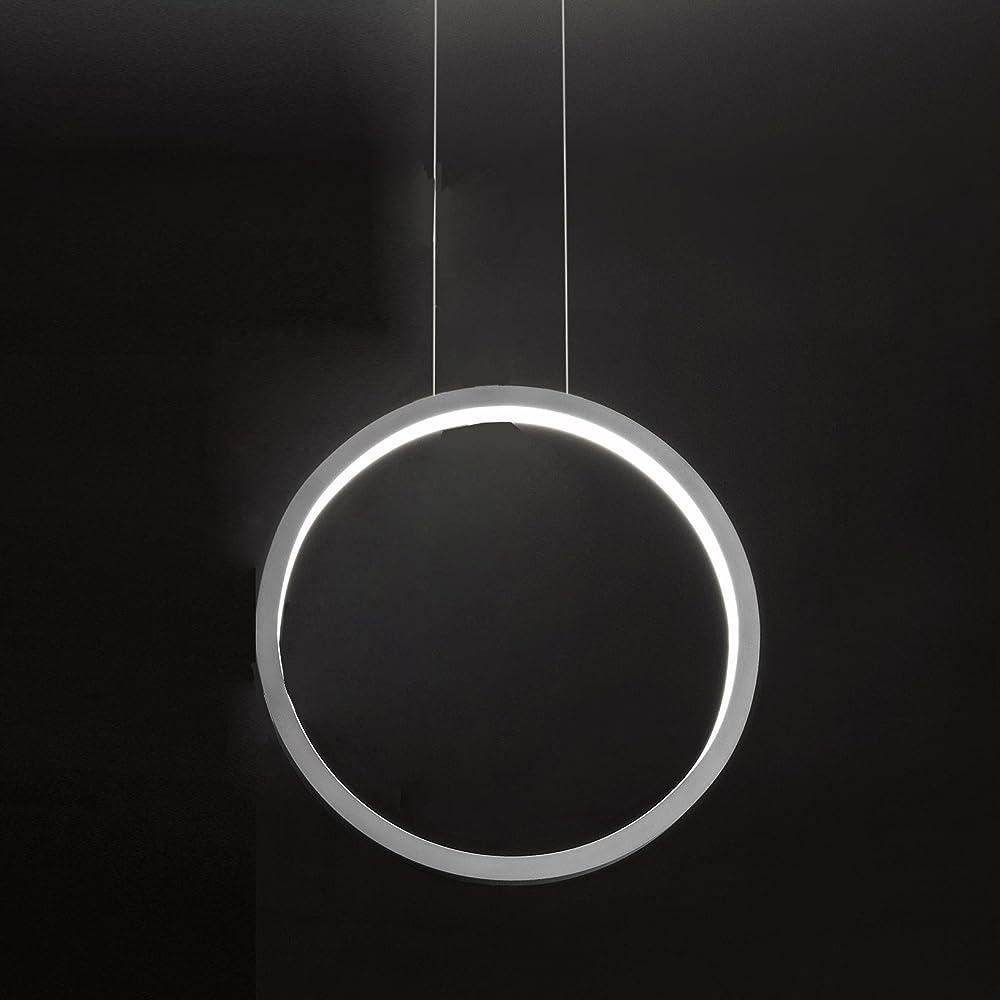 Cini & nils assolo 43,lampada a sospensione led,in alluminio laccato bianco 1566H