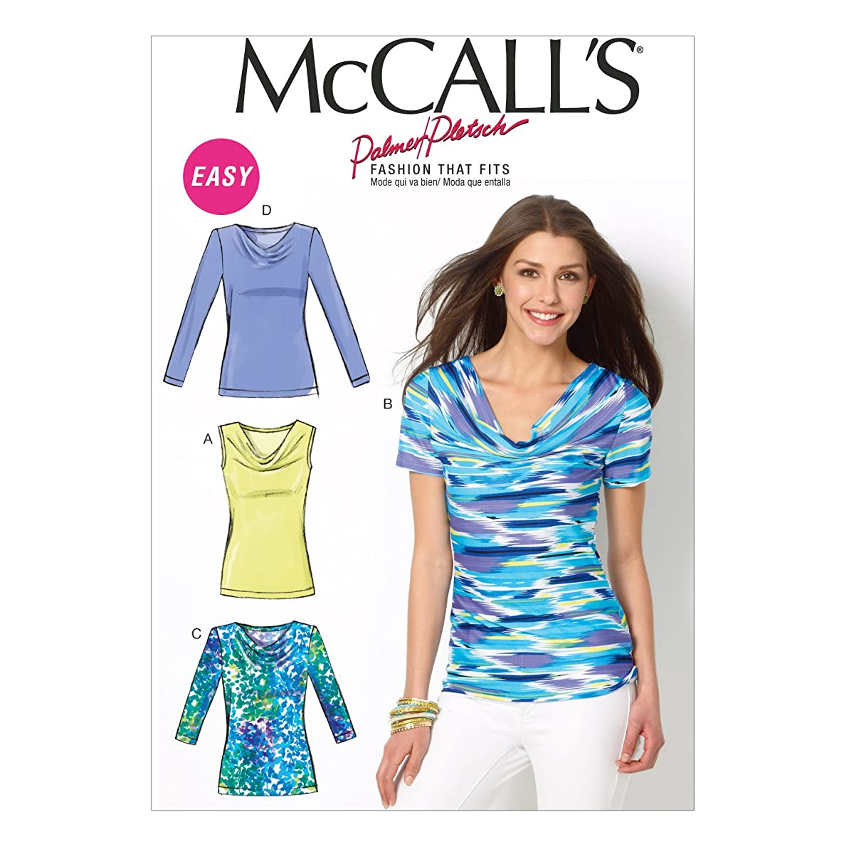 McCall Pattern Company M6963 Misses' Tops, Size B5