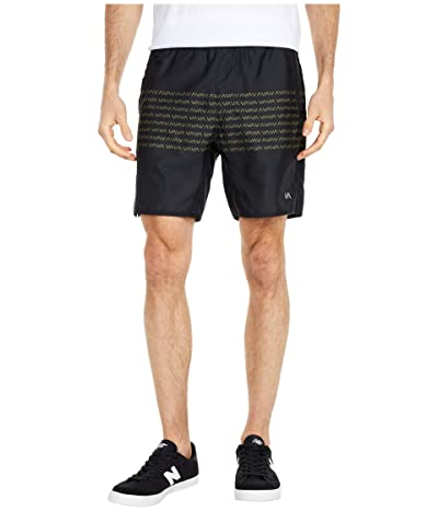 RVCA Yogger IV Shorts (Black/Green) Men