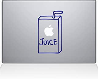 "The Decal Guru 1008-MAC-13X-DB Apple Juice Vinyl Sticker, 13"" Macbook Pro (2016 & newer), Blue"