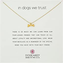Dogeared In Dogs We Trust, Dog Bone Necklace