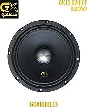 GK Audio GK10 SVOICE Medio para Coche SPL COMPETICIÓN (Competition) Car Hi-Fi; Alta Potencia Speaker, Mid Bass, Tweeter, subwoofer PA
