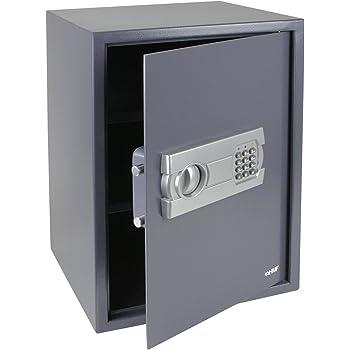 HMF 4612512 Coffre-fort, coffre-fort à poser avec serrure électronique, 50 x 35 x 33 cm, anthracite