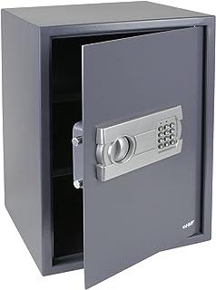HMF 4612512 Caja fuerte cerradura electrónica 50 x 35 x 33 cm, antracita