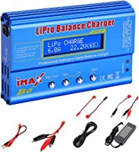 EYESKY iMax B6 80W 6A Lipo Balance Charger for LiPo/Li-ion/Life/LiHV Battery (1-6S), NiMH/NiCd (1-15S), RC Battery Charger w/ AC Power Adapter -Blue