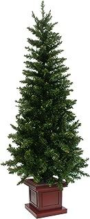 クリスマスツリー ウッドベーススリムツリー ポット 組み立て式 180cm