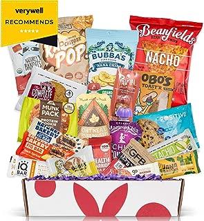 Healthy Vegan Snacks Care Package: Mix of Vegan Cookies, Protein Bars, Chips, Vegan Jerky, Fruit & Nut Snacks, Great Vegan Gluten Free Christmas Baskets