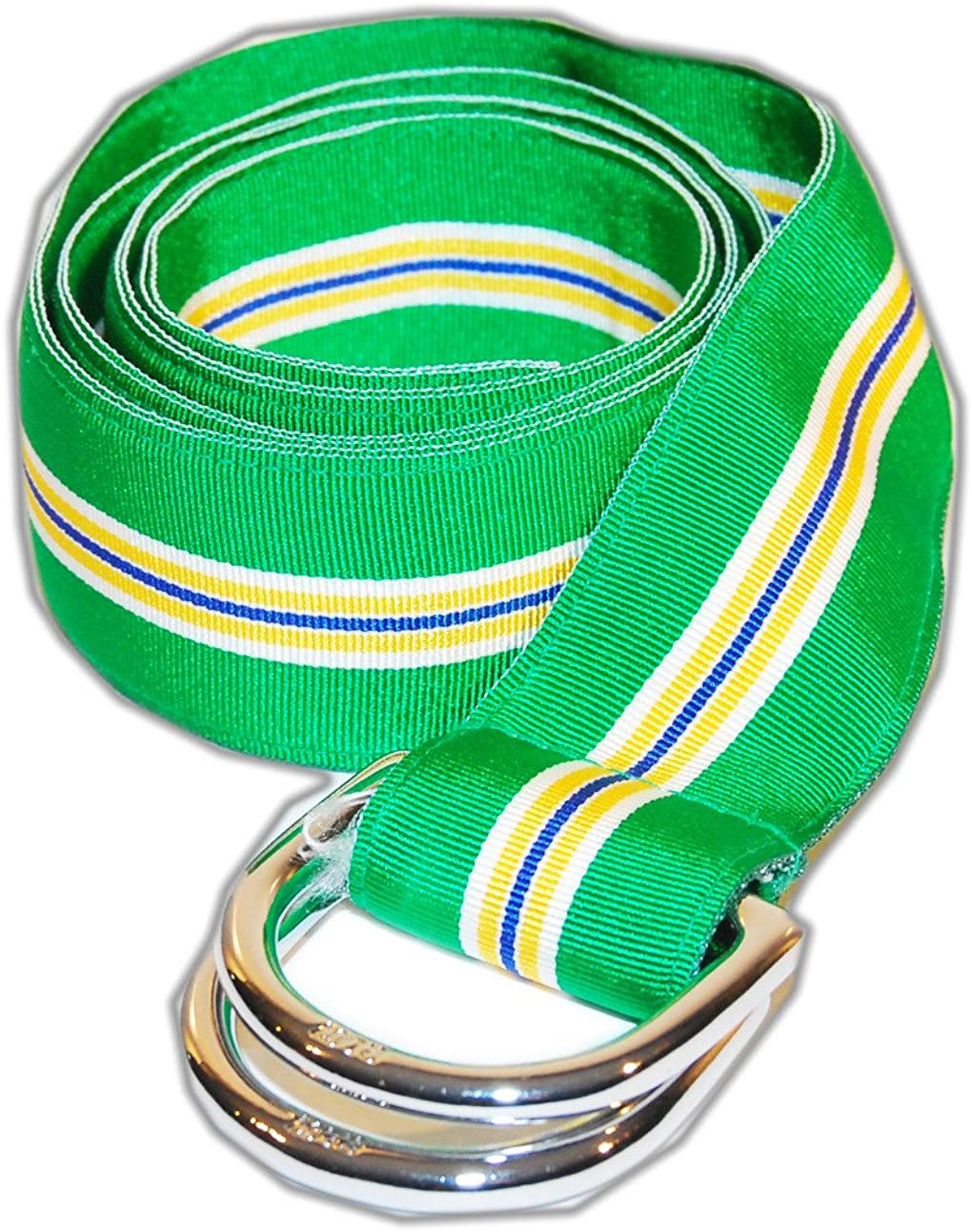 Polo Ralph Lauren Mens Grosgrain Spasm price Belt Max 70% OFF D-Ring Green Ribbon Yellow