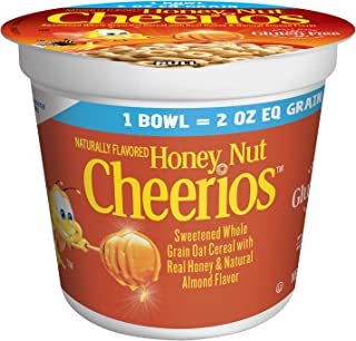 General Mills Cereals Honey Nut Cheerios Single Serve Cup Cereal K12 2 oz Equivalent Grain Gluten Free, 60Count (Pack of 60)