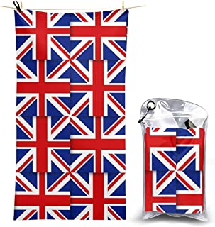 MoonStarDayUp Beach Towels Hand Towel Sheets UK British Flag Bath Linen Blanket Covers Fast Dry Bathroom Extra Large Fashion Travel Pool Swimsuits Washcloths 27.5x51 in