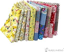 RayLineDo® 10 Pcs Different Pattern Multi Color 100% Cotton Poplin Fabric Fat Quarter Bundle 18
