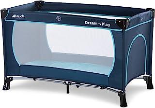 Hauck Dream'n Play Plus - Cuna de viaje 3 piezas, 120 x 60 cm, de 0 meses hasta 15 kg, con bolsa de transporte, apertura l...