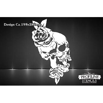 Airbrush Schablone Totenkopf Sch/ädel Skull Stencil A5