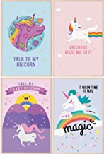 Pillow & Toast Unicorn Rainbow Wall Art Nursery Decorations, Unicorns Art Prints Posters for Teen Girls and Little Girl Bedroom