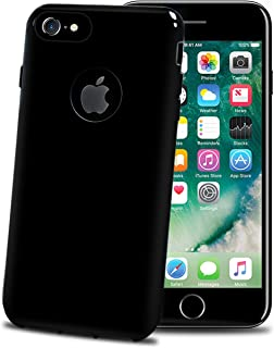 Celly GelSkin skin-tight Mobile Soft TPU Anti-Shock for iPhone, Glossy Black