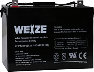 Weize 12V 100AH Deep Cycle AGM SLA VRLA Battery for Solar Wind RV in Series 24V 48V