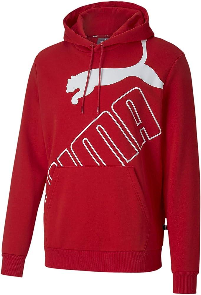 Puma, big logo hoodie fl, felpa per uomo,in cotone e poliestere 583504-51_S