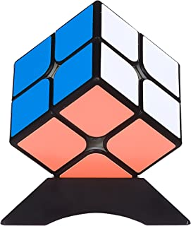 MoYu MF2 2x2 Speed&Magic Cube Puzzle | Anti-Stick Concave for Smooth Twisting | Educational Toy for Adults & Kids | Sharpen Brain, Enhance Fine Motor Skills, Critical Thinking & Problem Solving(50mm)