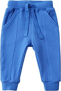 Toddler Baby Sweatpants Cotton Pure Color Active Jogger Pants with Pockets
