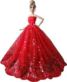Giallo Zantec Abbigliamento per Barbie,Bambole e Accessori,Regalo Ragazza,Abito da Sera per Bambola di 30 cm,Vestito Matrimoniale per Giocattolo delle Bambine