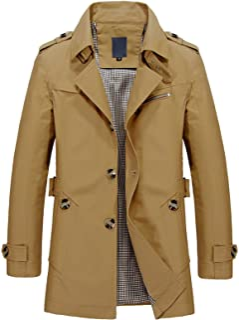 WSLCN - Giacca classica da uomo, stile casual, con cappuccio corto, slim fit, autunno e inverno