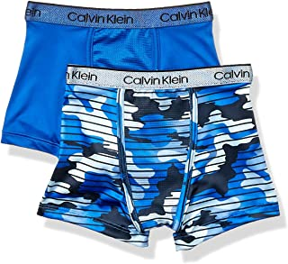 Calvin Klein Boys' Kids Performance Boxer Brief Underwear, Multipack