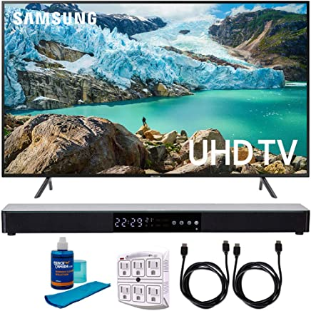 "$747 Get Samsung 58"" RU7100 LED Smart 4K UHD TV 2019 Model (UN58RU7100FXZA) with Screen Cleaner for LED TVs, SurgePro 6-Outlet Surge Adapter, 2X HDMI Cable & Home Theater 31"" Soundbar"