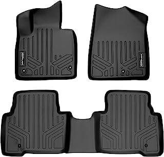 SMARTLINER Custom Fit Floor Mats 2 Row Liner Set Black for 2013-2018 Hyundai Santa Fe - All Models