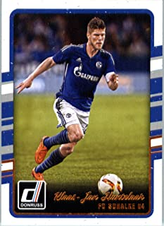 2016 Donruss #91 Klaas-Jan Huntelaar FC Schalke 04 Soccer Card in Protective Screwdown Display Case