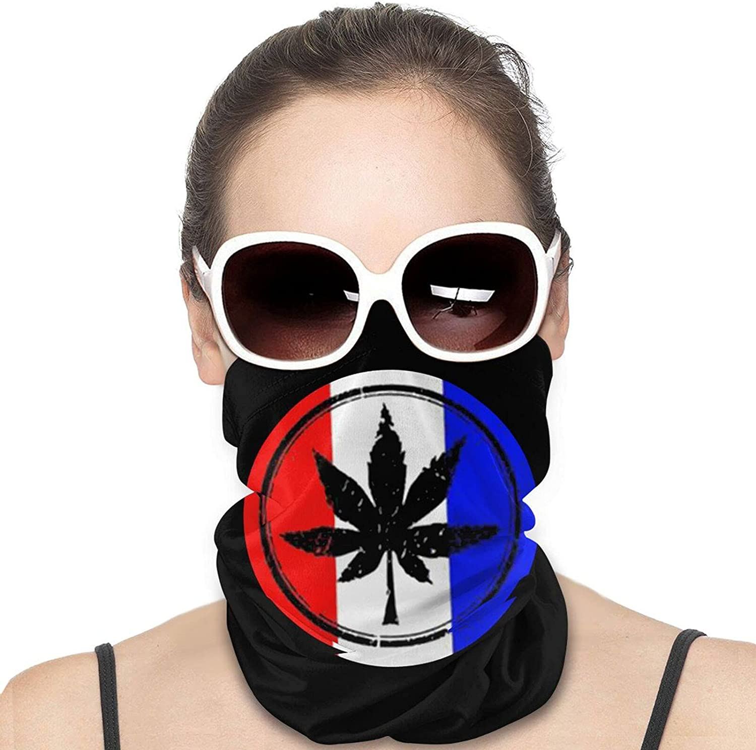USA flag Rasta Marijuana Leaf Round Neck Gaiter Bandnas Face Cover Uv Protection Prevent bask in Ice Scarf Headbands Perfect for Motorcycle Cycling Running Festival Raves Outdoors