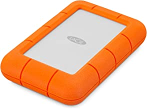 LaCie (LAC9000633) Rugged Mini 4TB External Hard Drive Portable HDD – USB 3.0 USB 2.0 Compatible, Drop Shock Dust Rain Resistant Shuttle Drive, for Mac and PC Computer Desktop Workstation PC Laptop