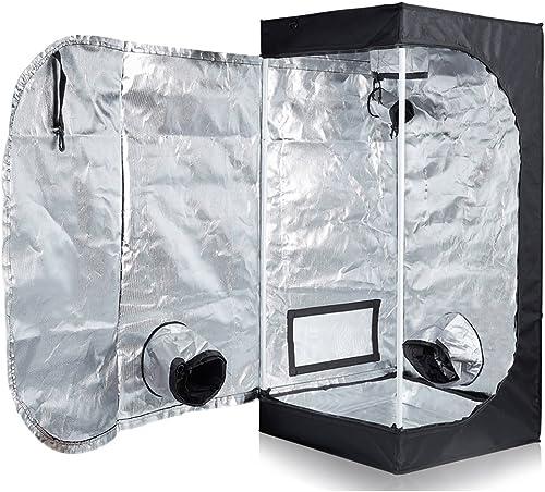 """TopoLite 24""""x24""""x48"""" Indoor Grow Tent Hydroponic Growing Dark Room w/Plastic Corner (24""""x24""""x48"""")"""