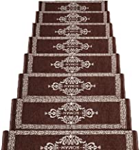 JIAJUAN Stair Carpet Treads Non-Slip Mute Breathable Self-Adhesive Treads Floor Protector Mats, 2 Colors, 4 Sizes (Color :...