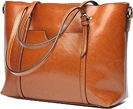 Molodo Women's Satchel Hobo Top Handle Tote Shoulder Purse Soft Leather Crossbody Designer Handbag Big Capacity Bags
