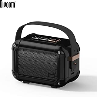 Divoom Macchiato Stylish Portable Bluetooth Speaker With Fm Radio, 6W Output With Tws Function - Black (Pack Of1)