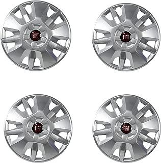 FIAT DUCATO enjoliveur moyeu 16 in Logo Emblème Rouge 1374086080 4x Orig