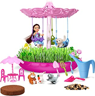 Lydaz Fairy Garden Kits for Kids, Crafts & Plant Growing Set, STEM Educational Playset, Science Gardening DIY Outdoor Toys...