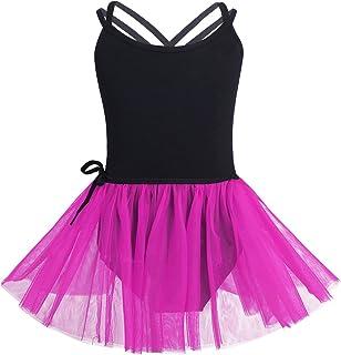 iixpin Bambina Chiffon Gonnellino a Portafoglio Danza del Ventre in Velluto Vestito Pattinaggio Artistico Ghiaccio Balletto Tutu Danza Classica Ballerina