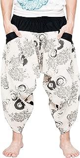 BohoHill Ninja Warrior Samurai Harem Pants Unisex Trousers Off-White