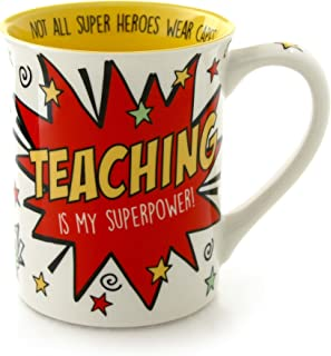 "Our Name is Mud ""Teaching is My Superpower"" Stoneware Mug, 16 oz."