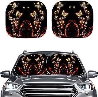 POLERO Protetores de sol para para-brisa de carro de borboleta, 2 peças, acessórios universais para automóveis, refletores...