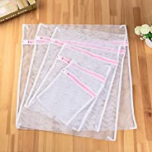 Laundry Bags 5 Size White Coarse Mesh Laundry Bags for Washing Machines Lingerie Laundry Wash Bags Modern PET+PE Polyester...