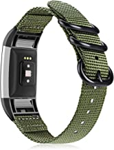Fintie Band Compatible with Fitbit Charge 2, Soft Woven Nylon Sport Replacement Strap Wrist Bands Compatible with Fitbit C...