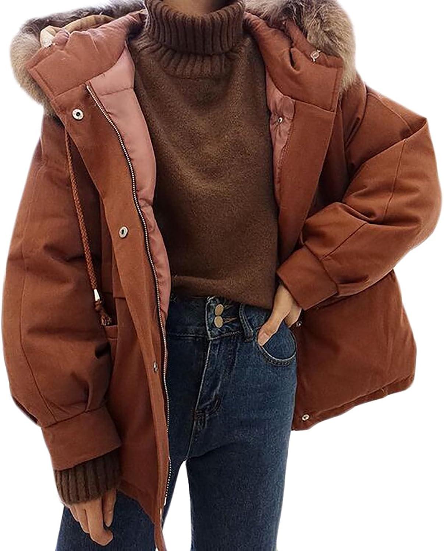 HTOOHTOOH Womens Stylish Long Sleeve Open Front Fleece Wool Faux Fur Jacket