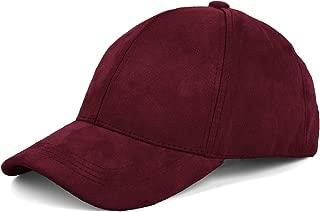 burgundy suede cap