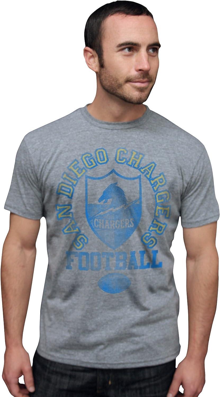 NFL San Diego Chargers Vintage Triblend Short Sleeve Crew Neck Tee Men's