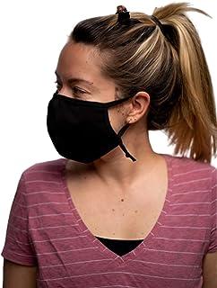 Kosan Bamboo Light-Weight Cotton Reusable Protective Face Mask, Black (1 Pack)