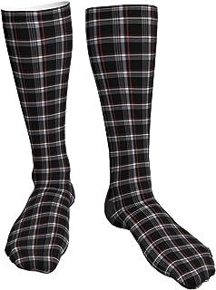 Crew Socks Bigfoot Silhouette Retro Pop Art Sasquatch Calf Socks Fashion Casual Cute Athletic Thick Breathable for Men Sock